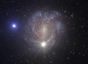 Concepto artístico de US 708, una estrella hiperveloz. Crédito: ESA/Hubble, NASA, S. Geier
