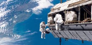 Una caminata espacial. Crédito: NASA