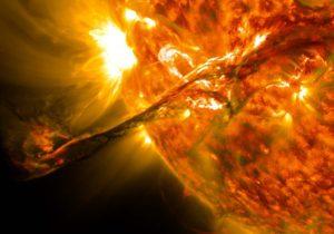 Llamarada solar del 31 de agosto de 2012. Crédito: NASA