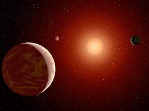 Concepto artístico de los planetas alrededor de TRAPPIST-1. Crédito: NASA