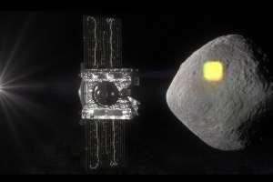 Concepto artístico de la sonda OSIRIS-REx llegando a Bennu. Crédito: NASA/Goddard/University of Arizona