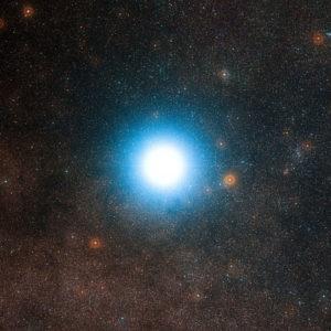 Alfa Centauri y el cielo que lo rodea, fotografiado en octubre de 2012. Crédito: ESO/Digitized Sky Survey 2