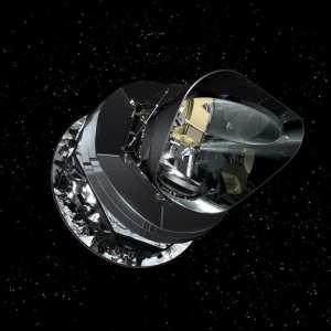 Concepto artístico del satélite Planck. Crédito: ESA - AOES Medialab