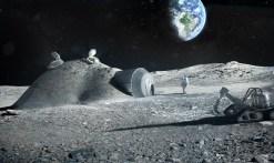 Concepto artístico de una base lunar. Crédito: ESO