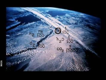 Imagen de la Tierra (así como su composición atmosférica) en el disco de oro de las sondas Voyager. Crédito: NASA
