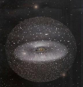 Concepto artístico de la Nube de Oort.