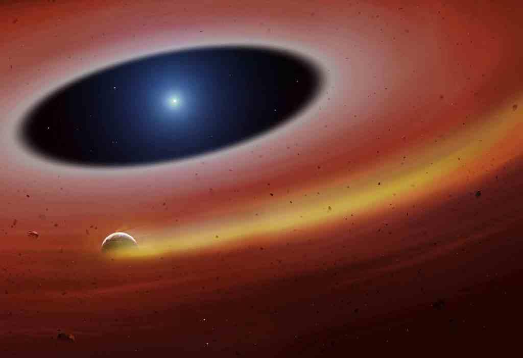 El trozo de un planeta sobrevive a la muerte de su estrella
