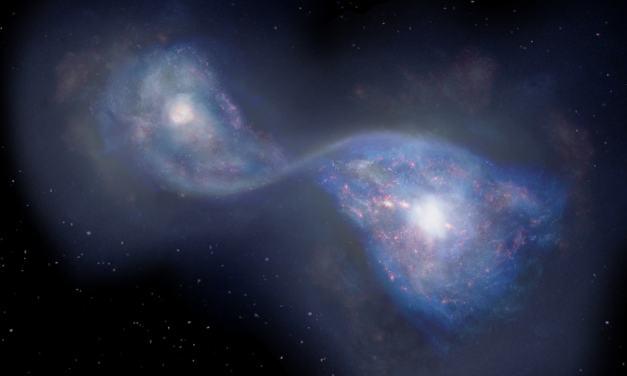 Observan la colisión de galaxias tras el Big Bang