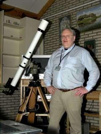Harold Plooijer voor z'n refractor