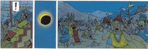 fragment uit Kuifje en de zonnetempel