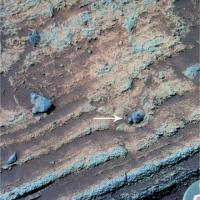 Mini-krater op 'Thuisplaat'