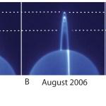 Uranus' ringen vanaf de zijkant bekeken