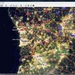 Bekijk de citylights met Google Earth