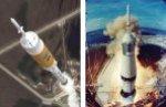 Links Orion/Ares en rechts Apollo/Saturnus. Wie ziet het verschil?