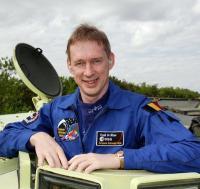 De Belgische astronaut Frank de Winne, die mei 2009 naar de ISS gaat