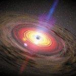 Superzware zwarte gaten en donkere materie bijten elkaar