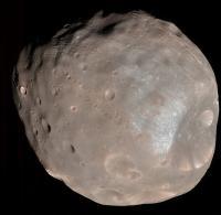 Phobos, de grootste maan van Mars