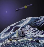 Philae en Rosetta bij komeet 67P/Churyumov-Gerasimenko