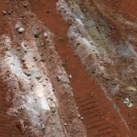 Het gevonden silica op de Home Plate op Mars