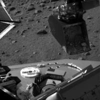 De Marsgrond die gaat worden geanalyseerd in de TEGA
