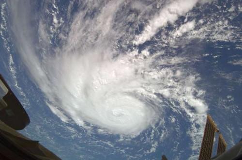 Bertha gezien vanuit de ISS