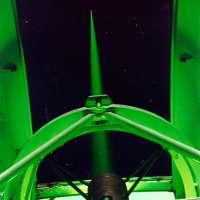 De laserpointer op de WHT