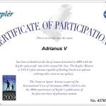 Adrianus V in Space!
