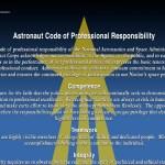 Hoe hoort een astronaut zich te gedragen?
