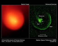 De kern van komeet Holmes