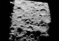 De zuidpool van de maan