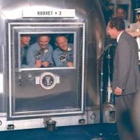 Apollo11-bemanning in quarantaine