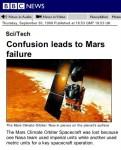 NASA wijst gebruik metrische systeem af