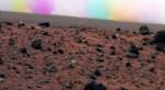 Een Martiaanse stofhoos in kleur