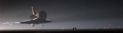 Vannacht de landing van de Discovery?