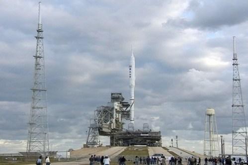 De Ares I-X op platform 39B