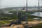 Een unieke foto van Ares I-X èn Atlantis