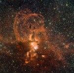 Hemels vuurwerk van stervende sterren in de Melkweg