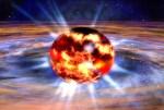 Neutronenster blaast modellen voor röntgenflitsen op