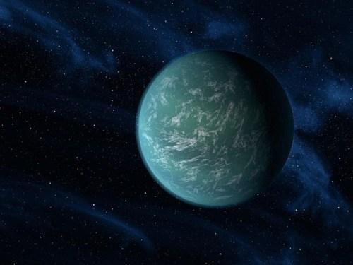 Impressie van de exoplaneet Kepler-22b