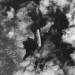 De Costa Concordia vanuit de ruimte