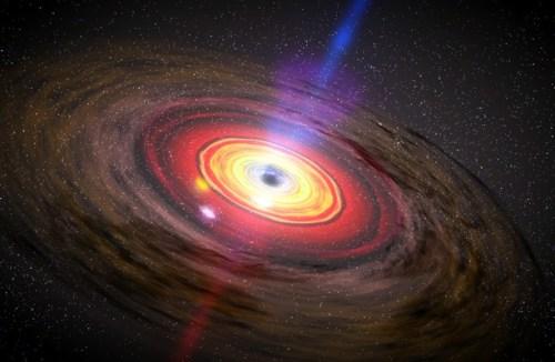 Voorstelling van een accretieschijf rondom een zwart gat