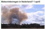 1 april: geen meteorietenregen, wel een heidebrand bij Radio Kootwijk