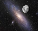 Als je ogen gevoelig genoeg waren was het Andromedastelsel zó groot