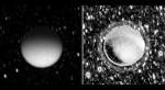 Titan gloeit in het donker