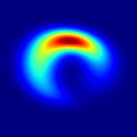 Zo zou een zwart gat als Sgr A* er aan de buitenkant uit zien.