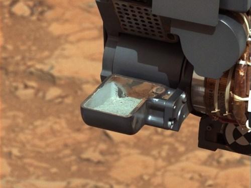curiosity drill sample