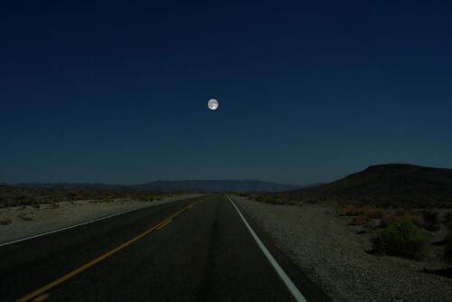 De maan als maan