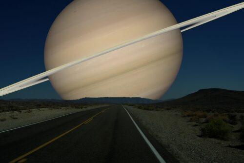Saturnus als maan
