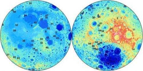 66 van de 280 nieuwe kraters