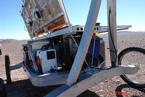 laser raman spectrometer silver box aboard Zoe